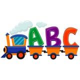 Train with ABC Royalty Free Stock Photos