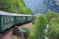 By train across Scandinavian mountains Royalty Free Stock Photography
