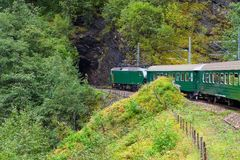 By the train across Scandinavian mountains Royalty Free Stock Photography