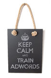 Train AdWords Royalty Free Stock Photo