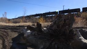 Train ahauling stock video footage