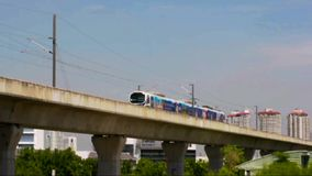 Train, Airport Link (City Line). Airport Link (City Line) at bangkok, Thailand stock footage
