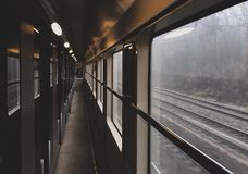 Train. Aisle paris picture automne Stock Photo