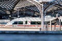 Train allemand à grande vitesse de GLACE Photographie stock