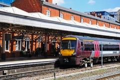 Train alongside platform, Nottingham. Stock Images