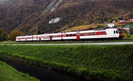 Train in the Alps Royalty Free Stock Photo