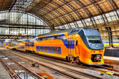Train at Amsterdam Centraal station. The Netherlands Royalty Free Stock Images