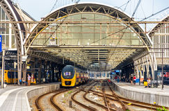 Train at Amsterdam Centraal station. The Netherlands Stock Image