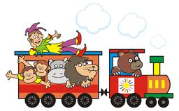 Train and animals Royalty Free Stock Image