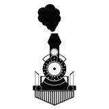 Train antique black vector Royalty Free Stock Image
