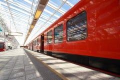 Train arrêté de métro Photo stock