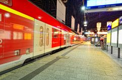 Train arrived at Hamburg central train station Stock Images