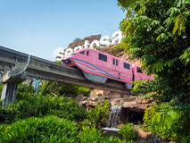 Train arriving Sentosa Stock Photo