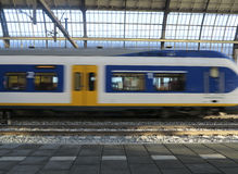 Train arriving at station Royalty Free Stock Image