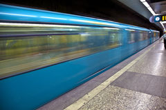 Train arriving in the station Royalty Free Stock Photo