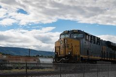 Train Engine Arriving Royalty Free Stock Image