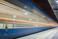Train arriving to station Royalty Free Stock Photography