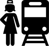 Train attendant icon. Occupation vector Stock Image