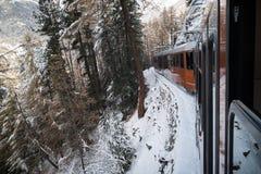 Train au Matterhorn Photographie stock libre de droits