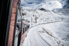 Train au Matterhorn Image stock