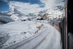 Train au Matterhorn Photographie stock