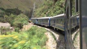 Train au Pérou banque de vidéos