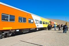Train aux nuages Photos stock
