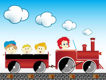 Train avec des enfants Image libre de droits