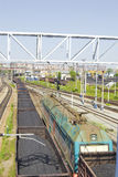 Train avec du charbon Photographie stock libre de droits