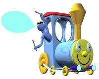 Train avec le bleu 01 Photographie stock libre de droits