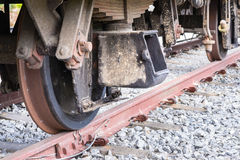 Train axles Royalty Free Stock Image
