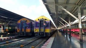 Train in Bangkok main railway station Stock Photography