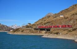 Train on the Benina mountain pass Stock Photo