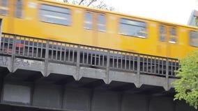 Train in Berlin stock video