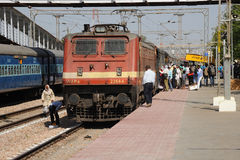 Train at Bharatpur junction, India. Stock Images