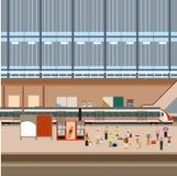 Train big station Royalty Free Stock Image