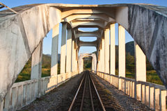 Train birdge in northern Thailand Royalty Free Stock Photography