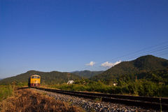 Train birdge in northern Thailand Stock Image
