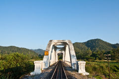 Train birdge in northern Thailand Royalty Free Stock Photo