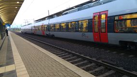 Train in Bitterfeld. Shuttle Train in Bitterfeld Stock Photo