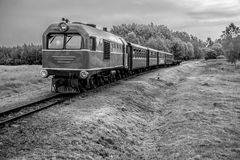 Train in black and white stock photography