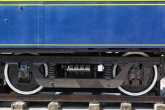 Train bogie. Close view of an old train bogie detail Royalty Free Stock Photography