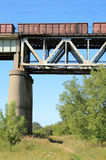 Train on the bridge Royalty Free Stock Photo
