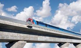 Train on bridge Stock Photography