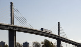 Train on the bridge Royalty Free Stock Photo