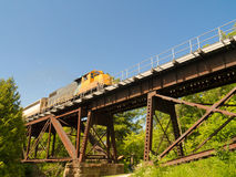 Train on bridge Royalty Free Stock Image
