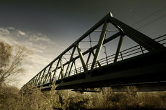 Train bridge. Metal train bridge in Croatia royalty free stock photos