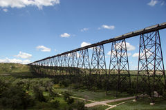 Train Bridge. North America's Longest and Tallest High Level Train Bridge Royalty Free Stock Photography