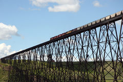 Train Bridge. North America's Longest and Tallest High Level Train Bridge Royalty Free Stock Images