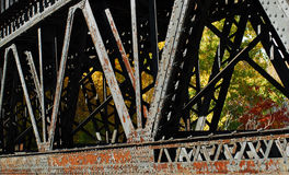 Train Bridge Detail Royalty Free Stock Photos